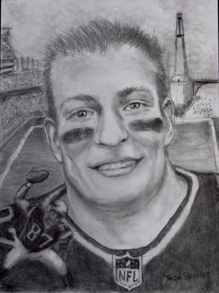Wall Art - Drawing - Gronk by Jack Skinner