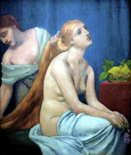 Wall Art - Painting - Grooming - Digital Remastered Edition by Pierre Puvis de Chavannes
