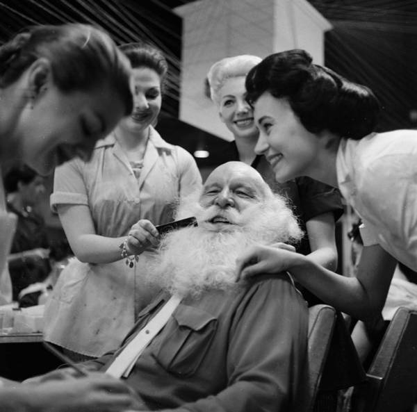 Dressing Up Photograph - Grooming Santa by Berni Efield