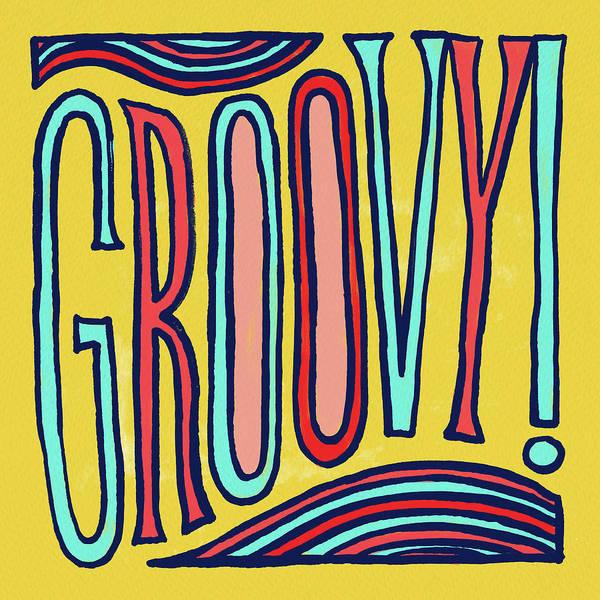 Drawing - Groovy by Jen Montgomery