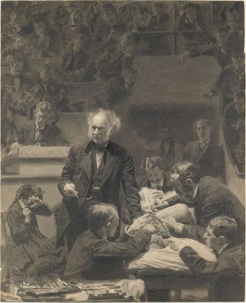 Painting - Gross Clinic Thomas Eakins  American  Philadelphia  Pennsylvania 1844 1916 Philadelphia  Pennsylvani by Thomas Eakins