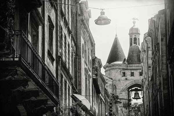 Wall Art - Photograph - Grosse Cloche Bordeaux France Black And White  by Carol Japp