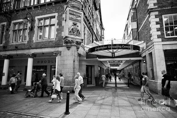 Wall Art - Photograph - Grosvenor Shopping Centre Covered Arcade Chester Cheshire England Uk by Joe Fox