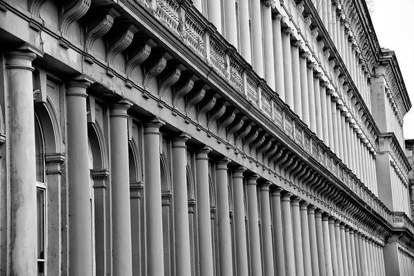 Photograph - Grosvenor Terrace - Glasgow Scotland In Black And White by Bill Cannon
