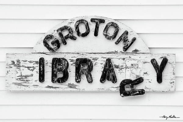 Photograph - Groton Library by Harry Moulton