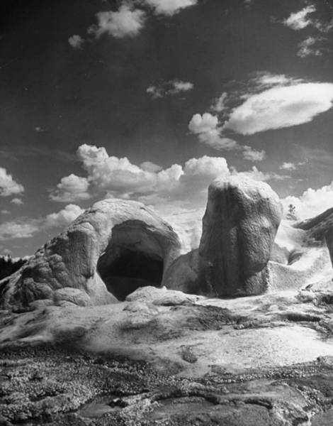 Grottos Photograph - Grotto Geyser In Yellowstone National by Alfred Eisenstaedt