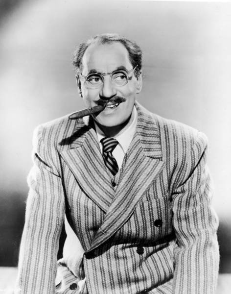 Scriptwriter Photograph - Groucho Marx by Pictorial Parade