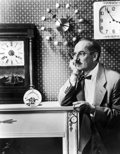 Scriptwriter Photograph - Groucho Marx Time by Pictorial Parade