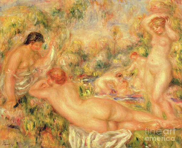 Wall Art - Painting - Group Of Bathers, 1918 by Pierre Auguste Renoir