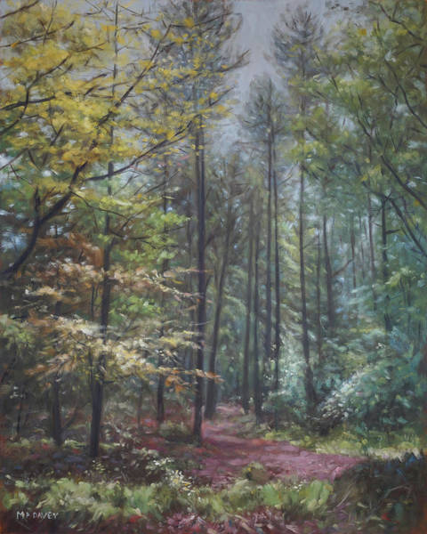 Painting - Group Of Trees In The New Forest. by Martin Davey
