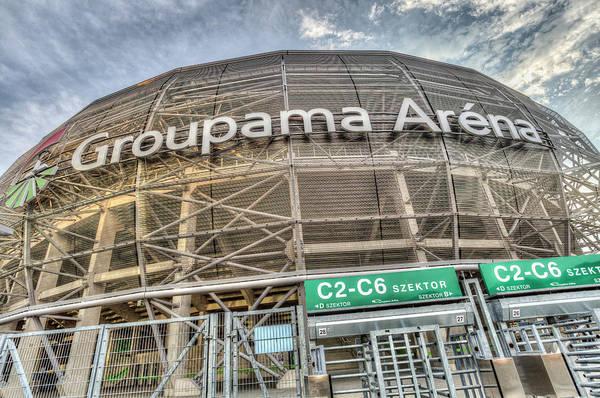 Wall Art - Photograph - Groupama Arena Budapest by David Pyatt