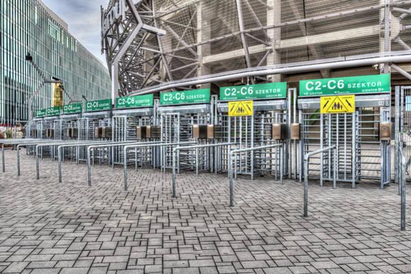 Wall Art - Photograph - Groupama Arena Entrance by David Pyatt