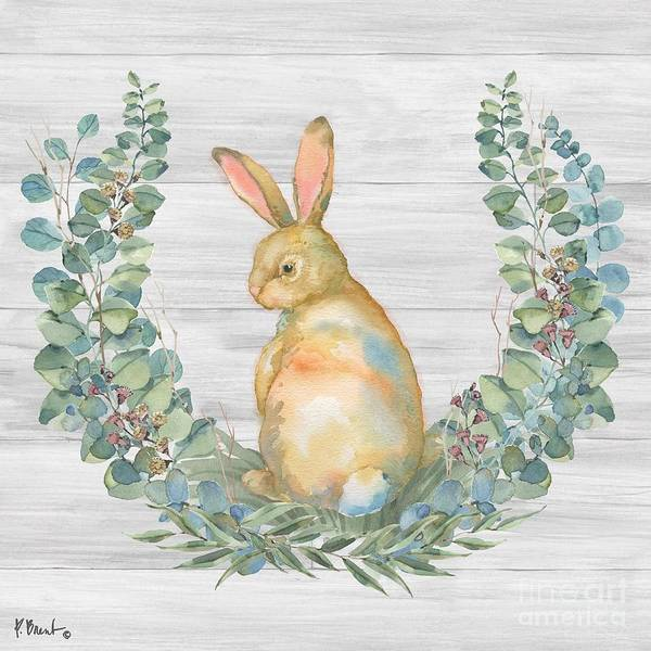 Wall Art - Painting - Grove Bunny I - Wood by Paul Brent