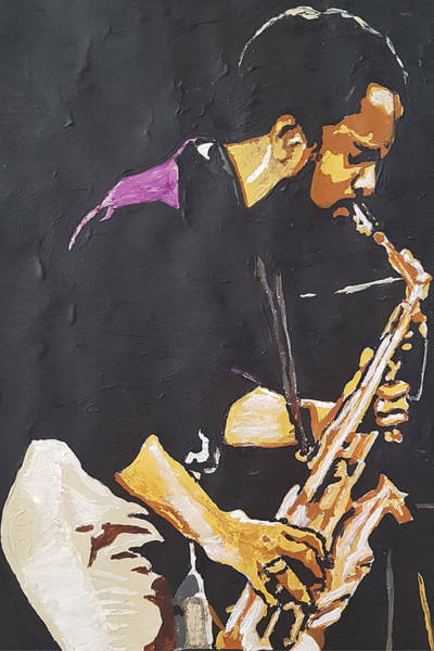 Painting - Grover Washington Jr by Rachel Natalie Rawlins