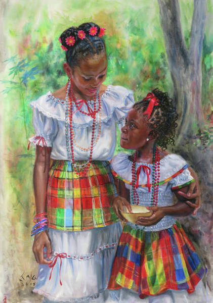 Saint Lucia Painting - Growing Up by Jonathan Guy-Gladding JAG