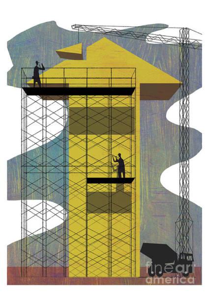 Straight Ahead Wall Art - Mixed Media - Growth by A Richard Allen