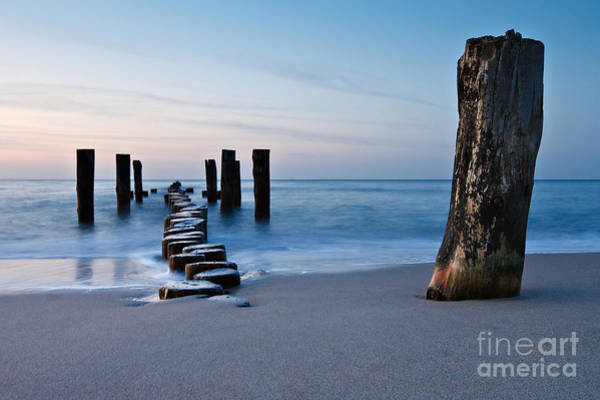 Wall Art - Photograph - Groyne On Shore In The Evening by Ricok