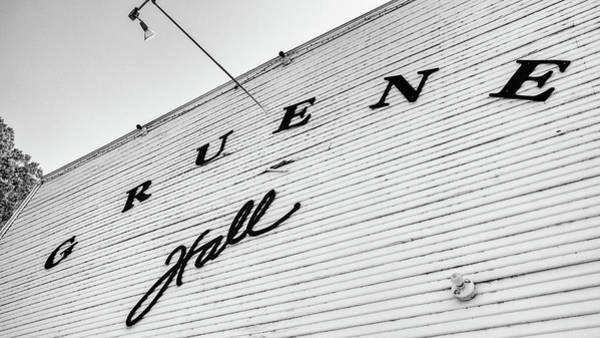 Wall Art - Photograph - Gruene Hall Texas by Stephen Stookey