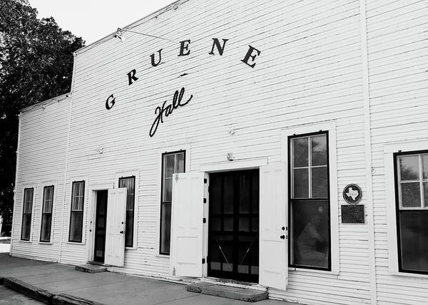 Wall Art - Photograph - Gruene Hall Tx by Stephen Stookey