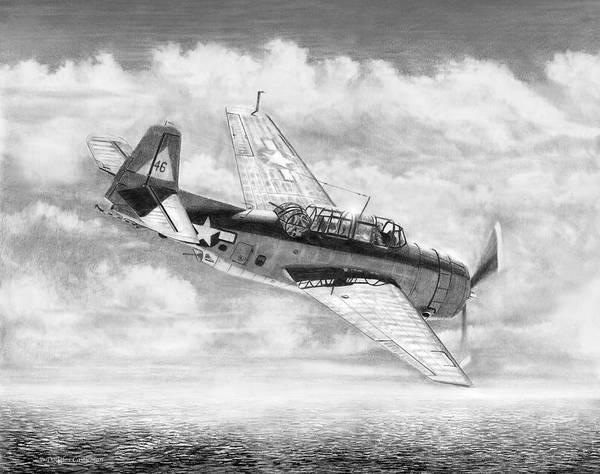 Drawing - Grumman Tbf/tbm Avenger by Douglas Castleman