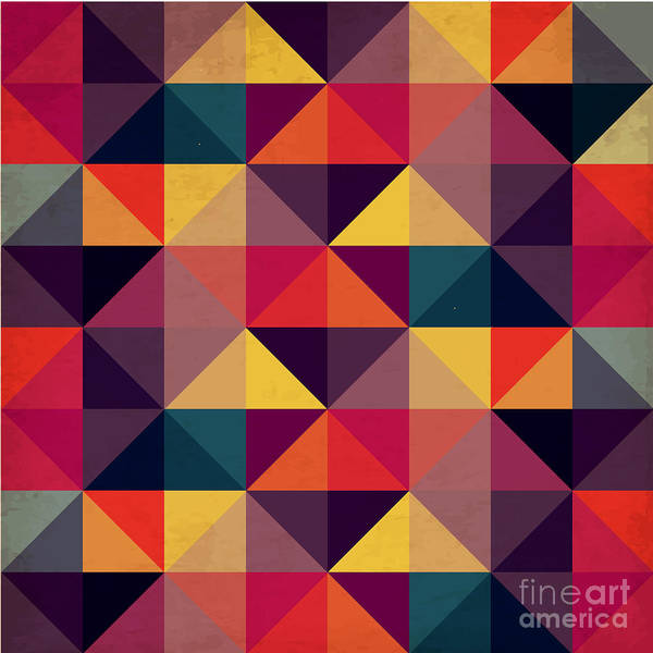 Wall Art - Digital Art - Grunge Colorful Seamless Pattern With by Artgraphixel