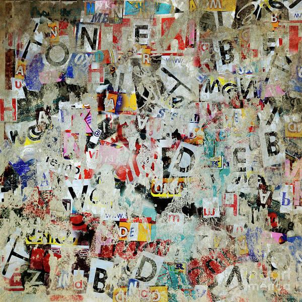 Wall Art - Photograph - Grunge Letter Poster Background  by Jelena Jovanovic