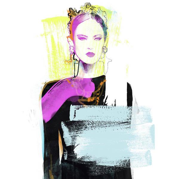 Wall Art - Digital Art - Grunge Queen by Nina Kosmyleva