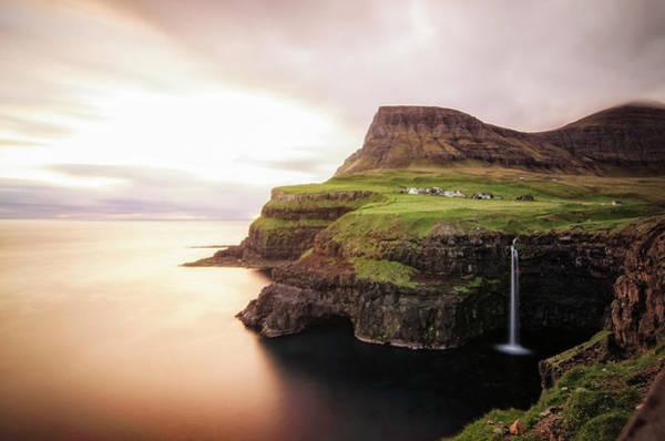 Faroe Island Wall Art - Photograph - Gásadalur by Bergur I. Johansen