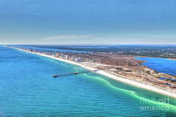 Photograph - Gsp Pier And Beach by Gulf Coast Aerials