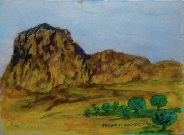 Painting - Guadalupe Peak Texas by Frank Hunter