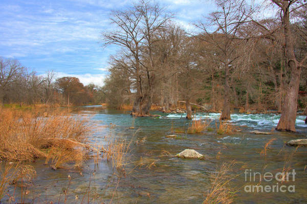 New Braunfels Photograph - Guadalupe River Fall by Kelly Wade