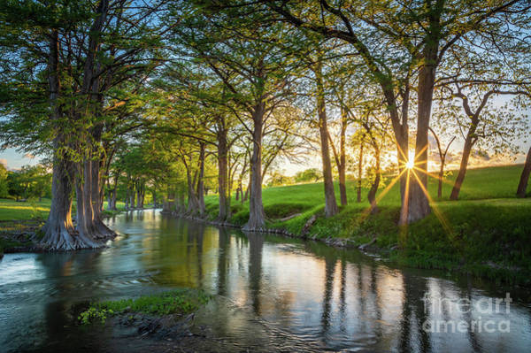 Wall Art - Photograph - Guadalupe River Sunset by Inge Johnsson