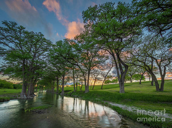 Photograph - Guadalupe River Twilight by Inge Johnsson