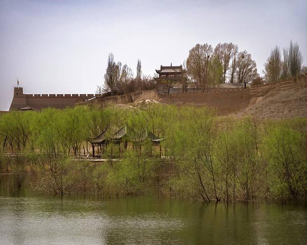 Photograph - Guan City End Of Great Wall Jiayuguan Gansu China by Adam Rainoff