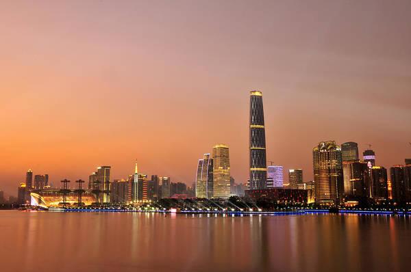 Convention Wall Art - Photograph - Guangzhou At Dusk Time, Guangdong, China by Huang Xin