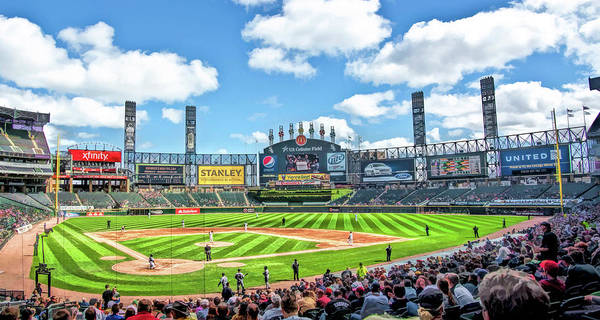 Painting - Guaranteed Rate Field Chicago White Sox Baseball Ballpark Stadium by Christopher Arndt