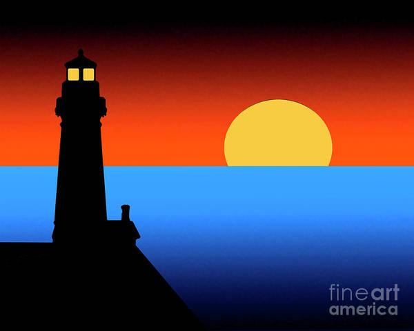 Digital Art - Guardian Lighthouse by Kirt Tisdale