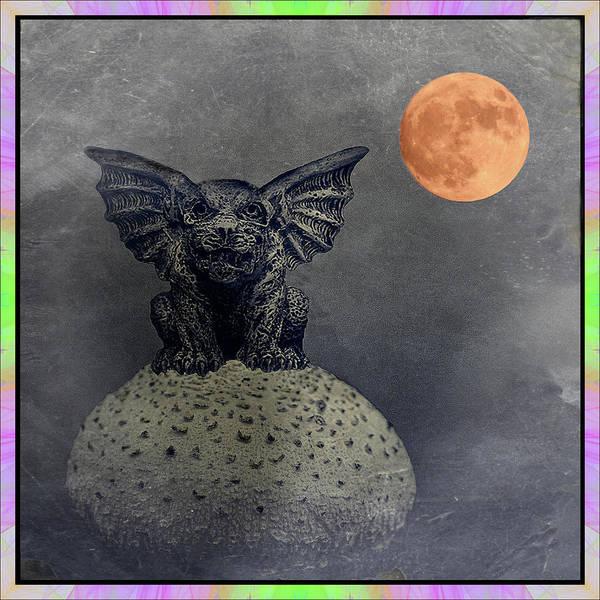 Gargoyle Digital Art - Guardian Of The Moon by Constance Lowery