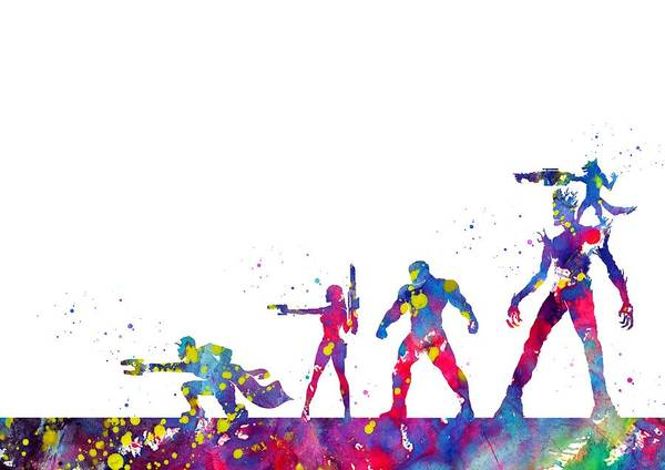 Wall Art - Digital Art - Guardians Of The Galaxy  by Erzebet S