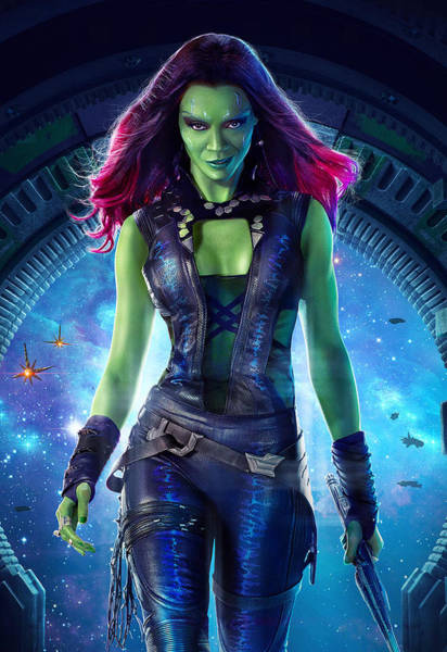 Galaxies Digital Art - Guardians Of The Galaxy Gamora by Geek N Rock