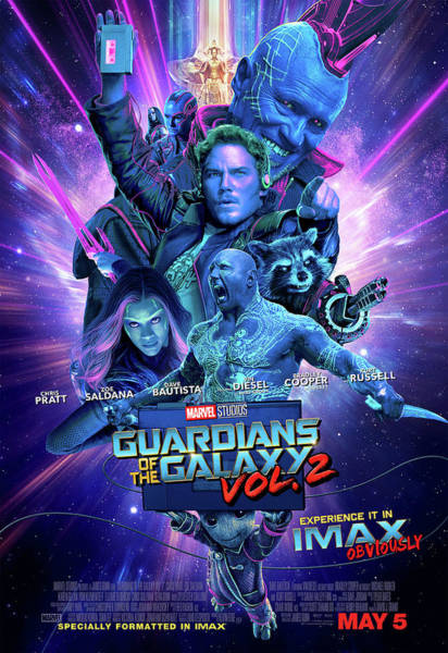 Galaxies Digital Art - Guardians Of The Galaxy Vol.2  by Geek N Rock