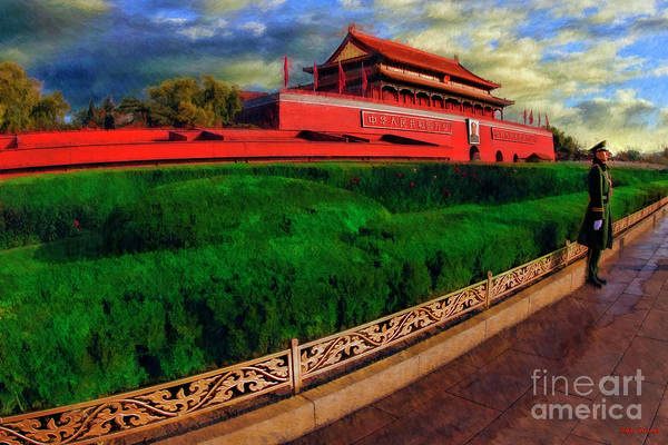 Photograph - Guarding Outer Court Of The Forbidden City by Blake Richards