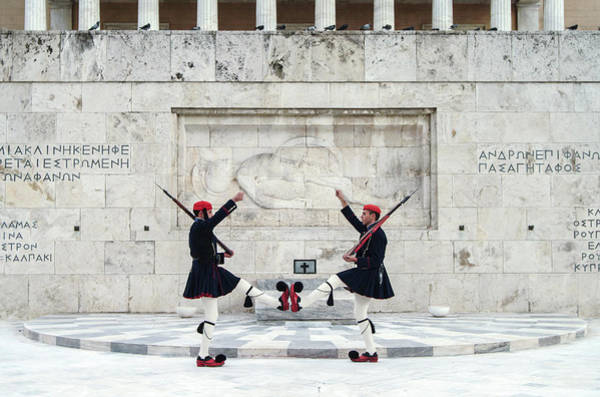 Rifle Photograph - Guards Performing By Ornate Building by Cultura Rm Exclusive/walter Zerla