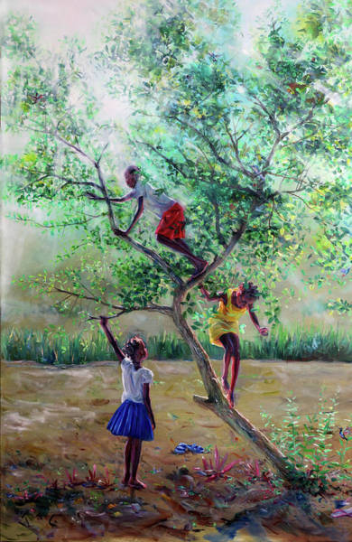 Saint Lucia Painting - Guava Tree by Jonathan Guy-Gladding JAG