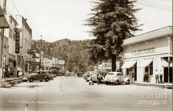 Photograph - Guerneville, Russian River Valley Of Sonoma County, California, by California Views Archives Mr Pat Hathaway Archives