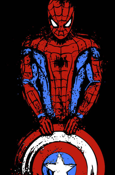 Guerra Civil - Spider-man Art Print