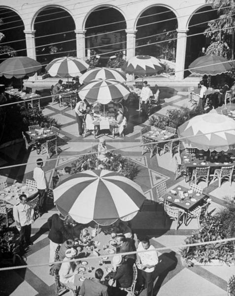 Guest Photograph - Guests Enjoying Lunch In The Open Air At by Alfred Eisenstaedt