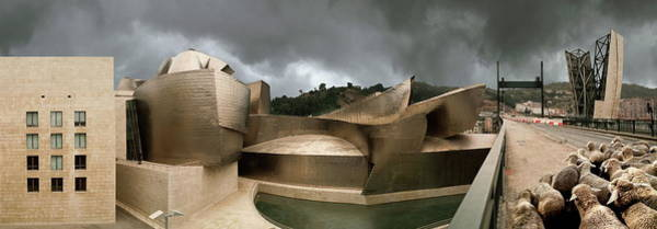 Guggenheim Photograph - Guggenheim Museum And Sheep. Bilbao by Miguel Palacios