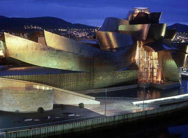 Guggenheim Wall Art - Photograph - Guggenheim Museum At Night by C Bowman
