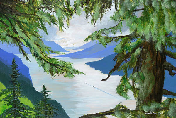 Painting - Guided Through The Fjords by Lynn Hansen